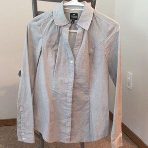"""Express XS button down """"essential"""" work shirt."""